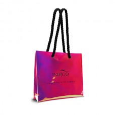 Holographic shopping bag - pink