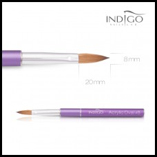 Indigo Acrylic Brush no.8 Kolinsky Oval Violet