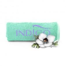 Indigo Towel Green lily logo 50x30cm